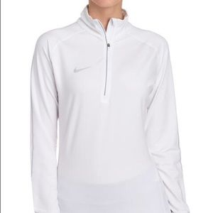NEW Nike 1/4 Zip White Pullover Size XS